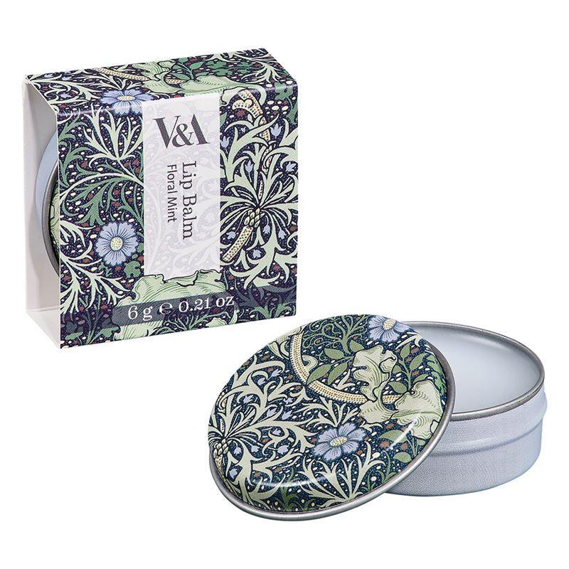 V & A – Lip Balm Tin Floral Mint