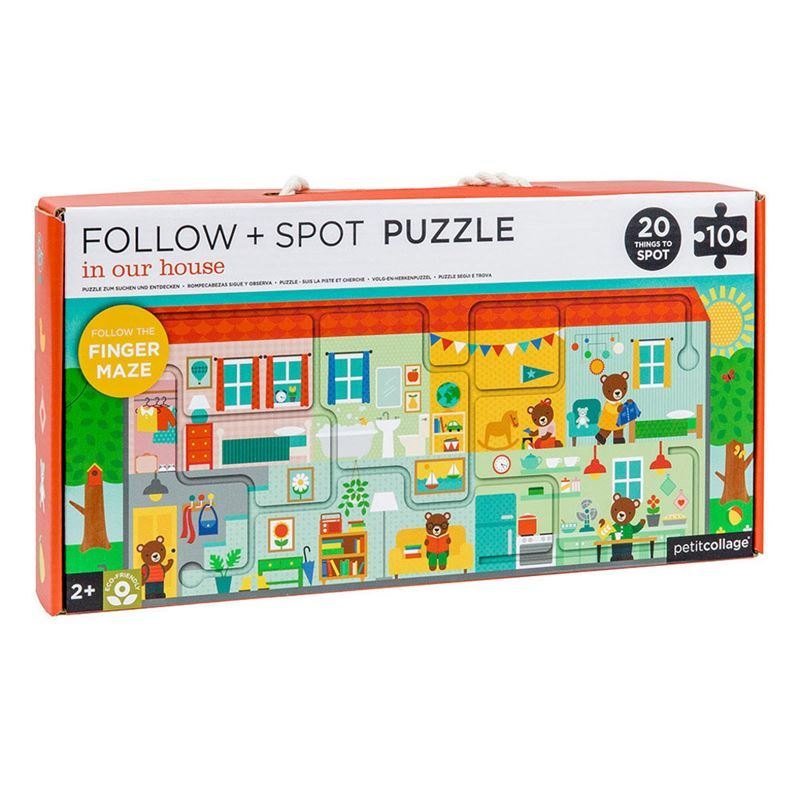 Petit Collage – In our House Follow & Spot Puzzle