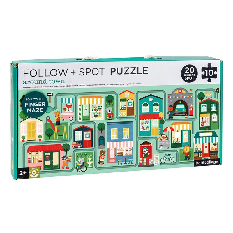 Petit Collage – Around Town Follow & Spot Puzzle