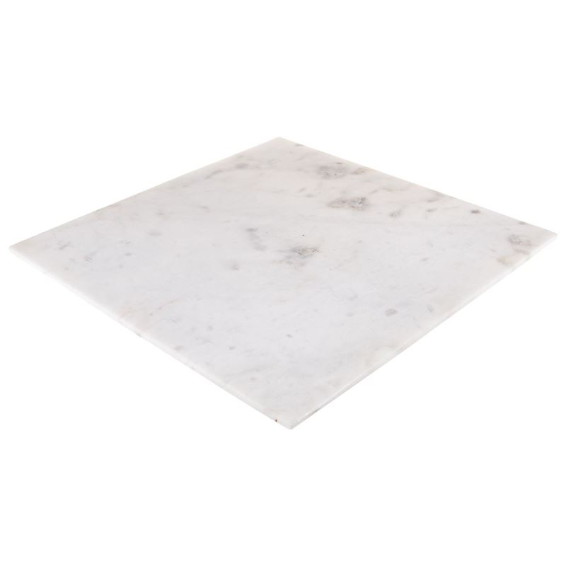 Zuhause – Karmela White Marble Square Serving Board 35x35cm