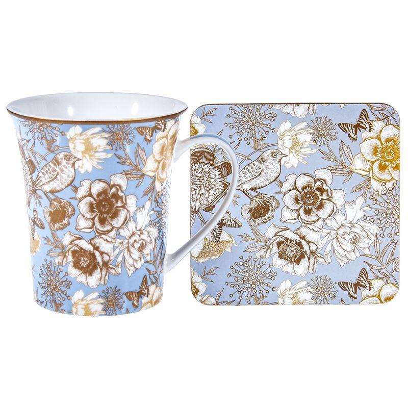 Nostalgic – China Mug and Coaster Set Songbird