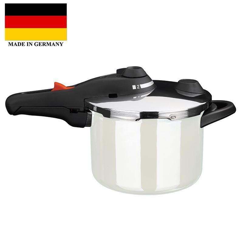 Kochstar – Enamel Pressure Cooker 22cm 4.5Ltr White (Made in Germany)