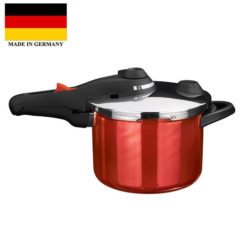 Kochstar – Enamel Pressure Cooker 22cm 6Ltr Red (Made in Germany)