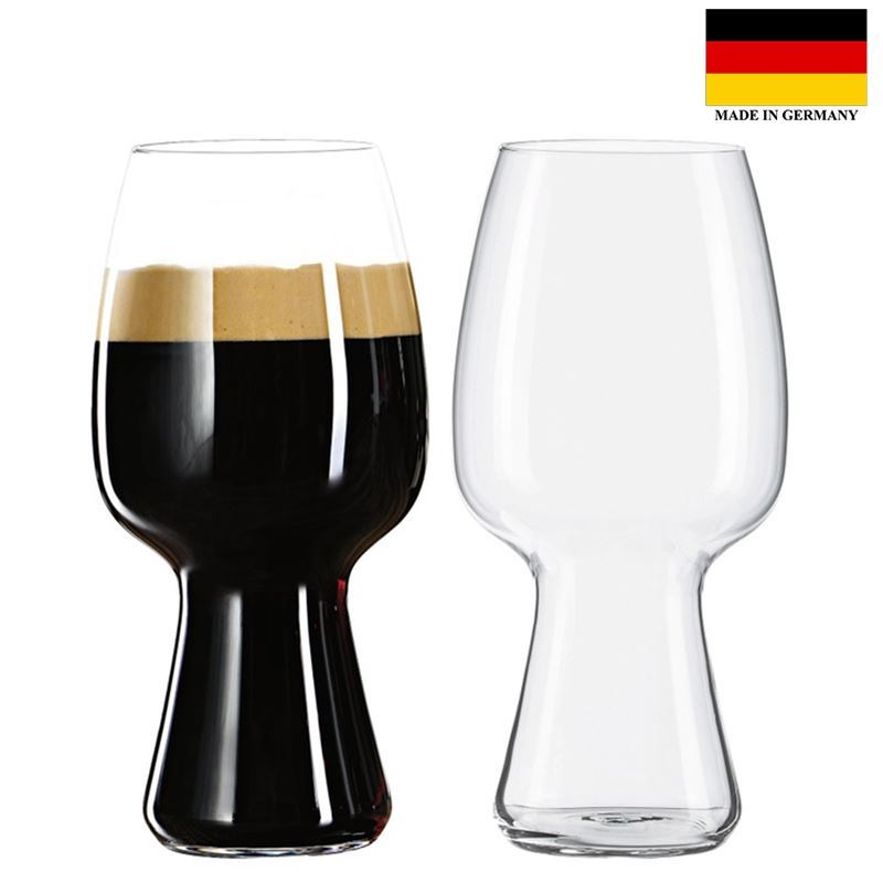 Spiegelau – Beer Classics – Stout Beer Glass 600ml Set of 2 (Made in Germany)