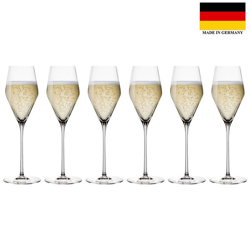 Spiegelau – Definition Champagne Glass 250ml Set of 6 (Made in Germany)