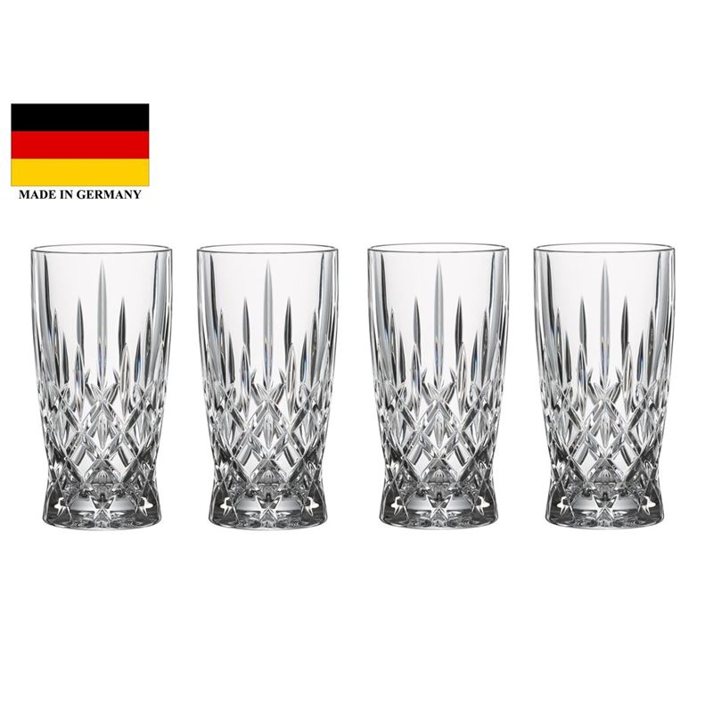 Nachtmann Crystal – Noblesse Tall Drink Set of 4 (Made in Germany)