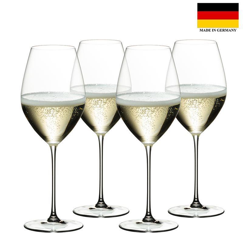 Riedel – Veritas Champagne Wine 445ml Set of 4 Anniversary 265 Years Set