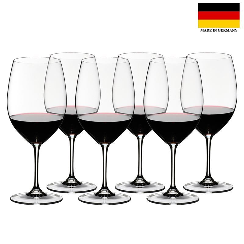Riedel Vinum – Cabernet Sauvignon/Merlot (Bordeaux) 6pc SPECIAL PACK 265 Year Anniversary (Made in Germany)