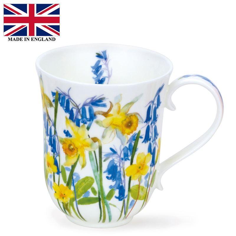 Dunoon – Braemar Bone China Mug 330ml Cottage Flowers Yellow (Made in England)