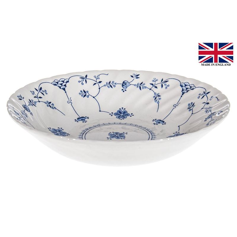 Queens by Churchill – Finlandia Blue Scollop Bowl 22cm (Made in England)