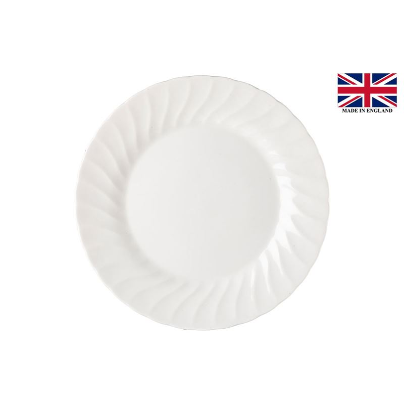 Queens by Churchill Chelsea White – Salad Plate 20cm (Made in England)