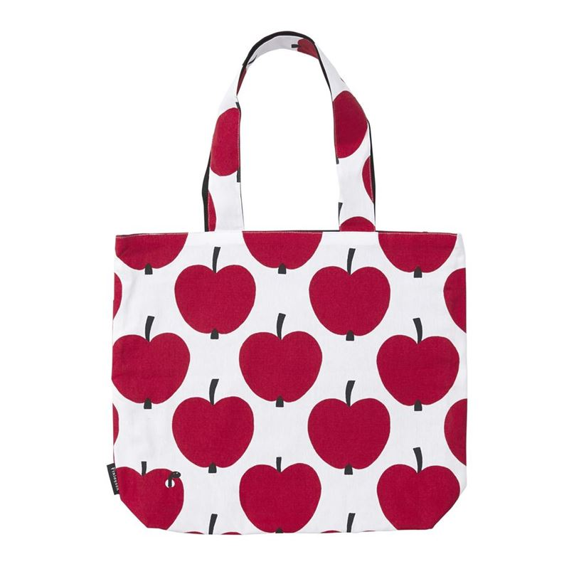 Finlayson – Omppu Reversible Tote Bag 45×42.5cm Red and White