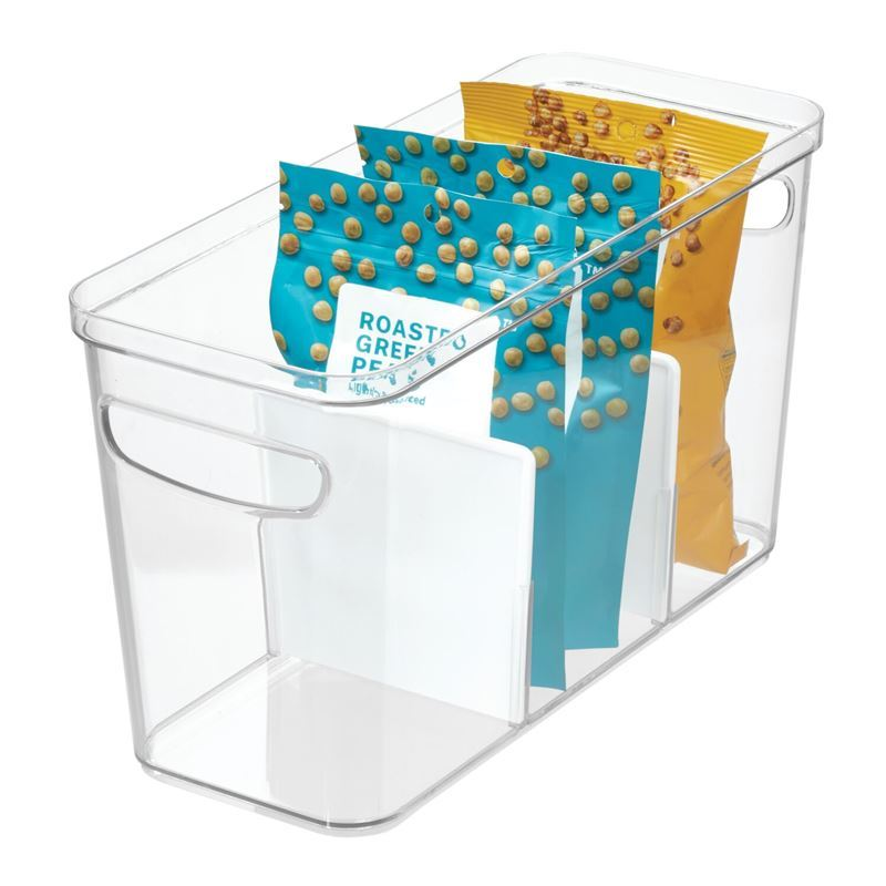 idesign – Crisp Triple Divided Storage Organiser Bin 35.5×15.2×20.3cm