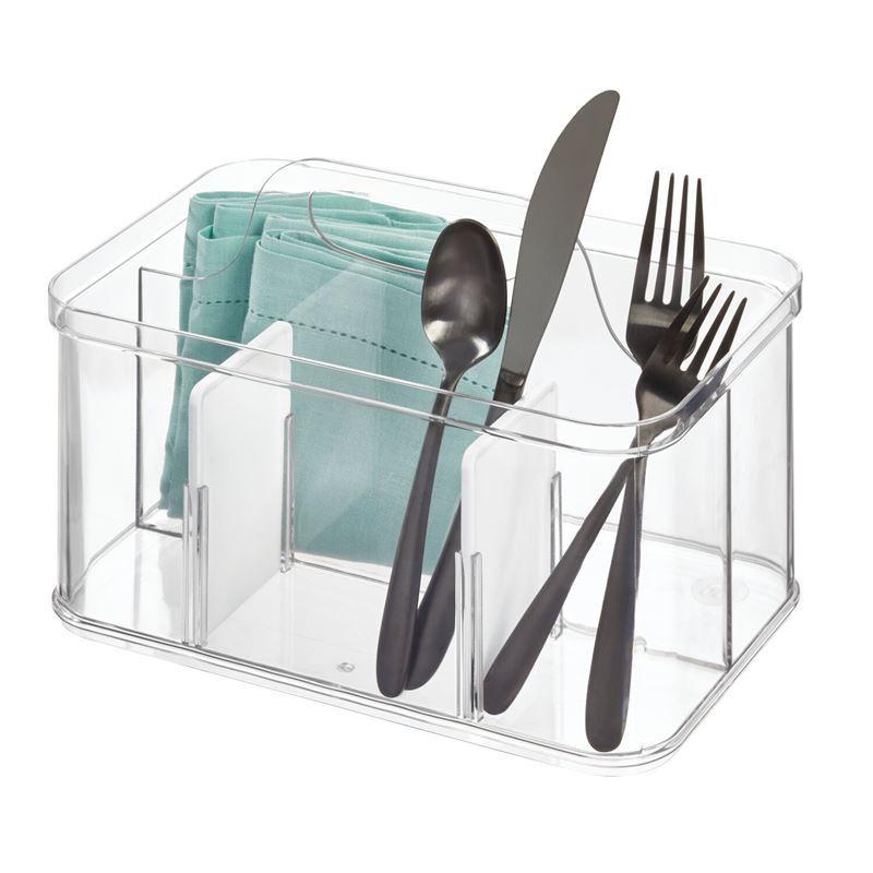 idesign – Crisp Cutlery Tote 15.8×25.4×17.8cm