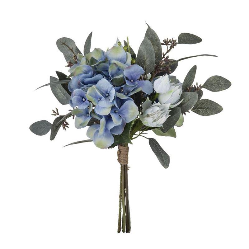 Rogue – Hydrangea Mix Bouquet Blue 25x25x30cm