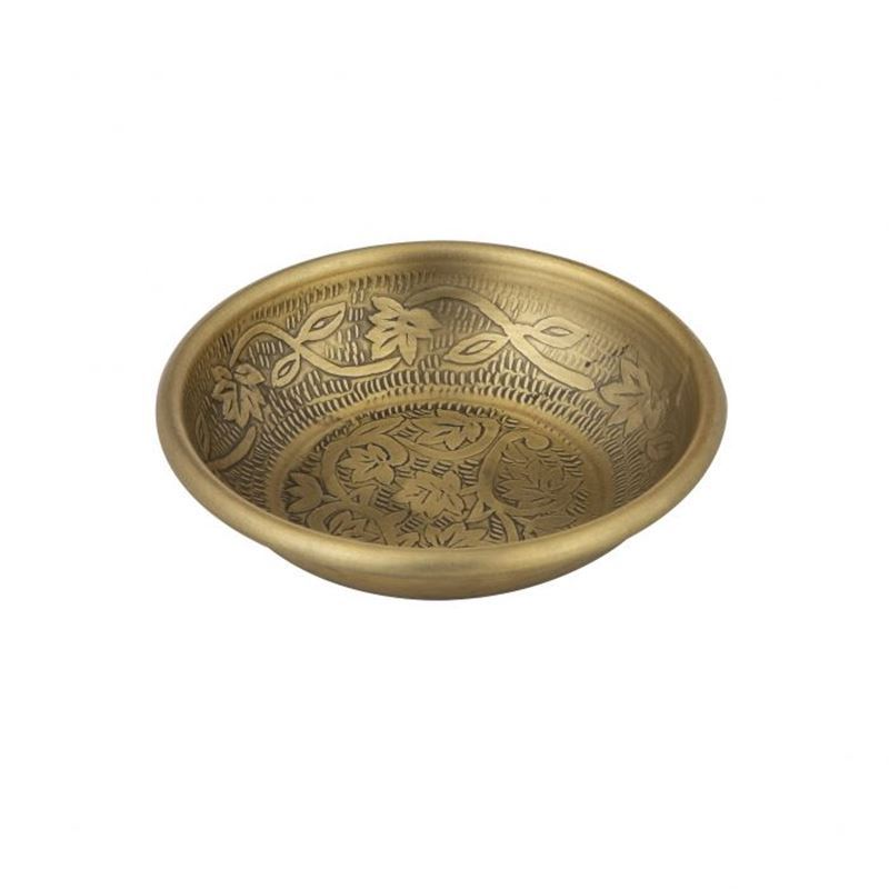 Davis & Waddell – World Gourmet Ravi Condiment Bowl Antique Gold 14x14x3cm
