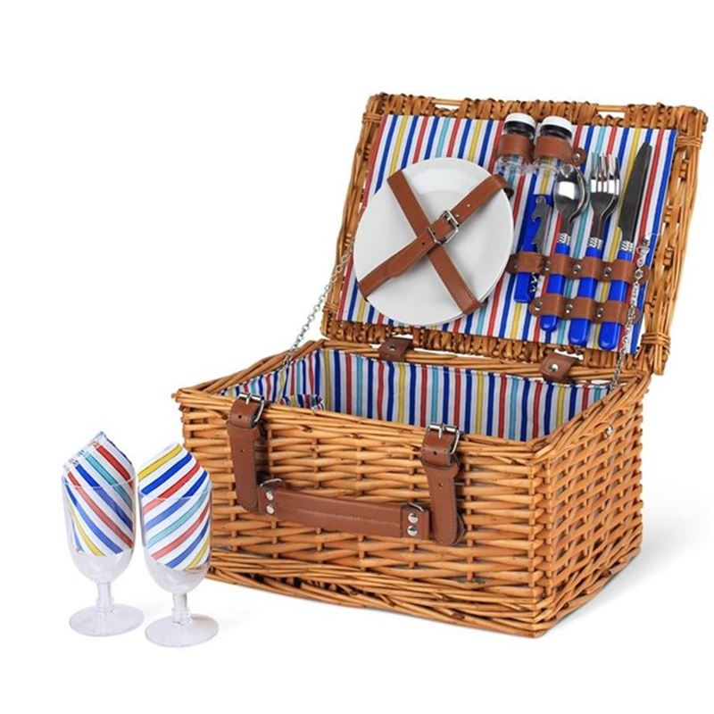 Zuhause – Riviera Willow Picnic Basket for 2
