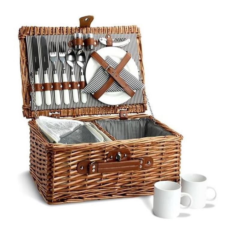 Zuhause – Darby Willow Picnic Basket for 2 with Keep Cool Compartment