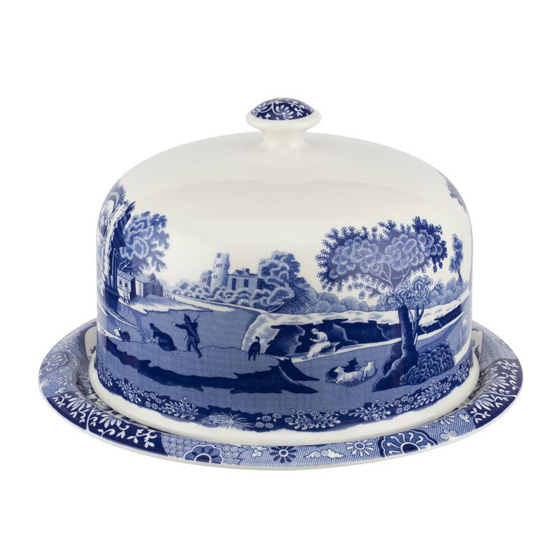 Spode – Blue Italian Serving Platter with Dome 29.5cm