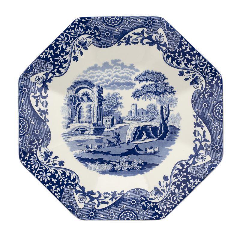 Spode – Blue Italian Octagonal Platter 35.6cm