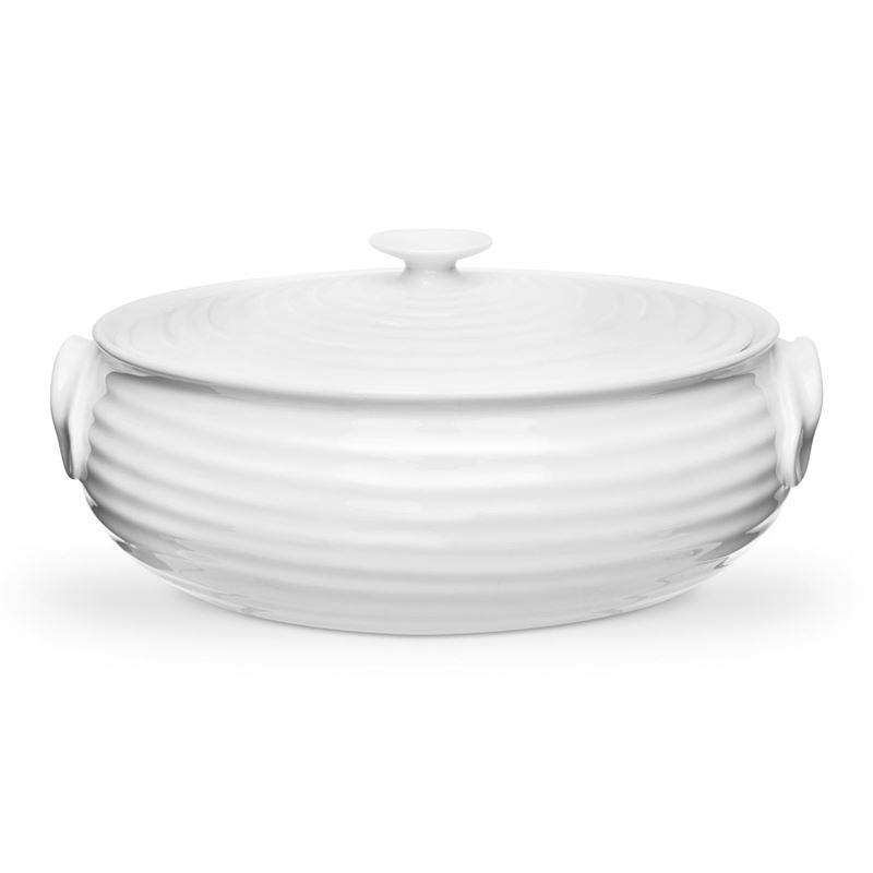 Sophie Conran for Portmeirion – Ice White Small Oval Covered Casserole 1.75Ltr