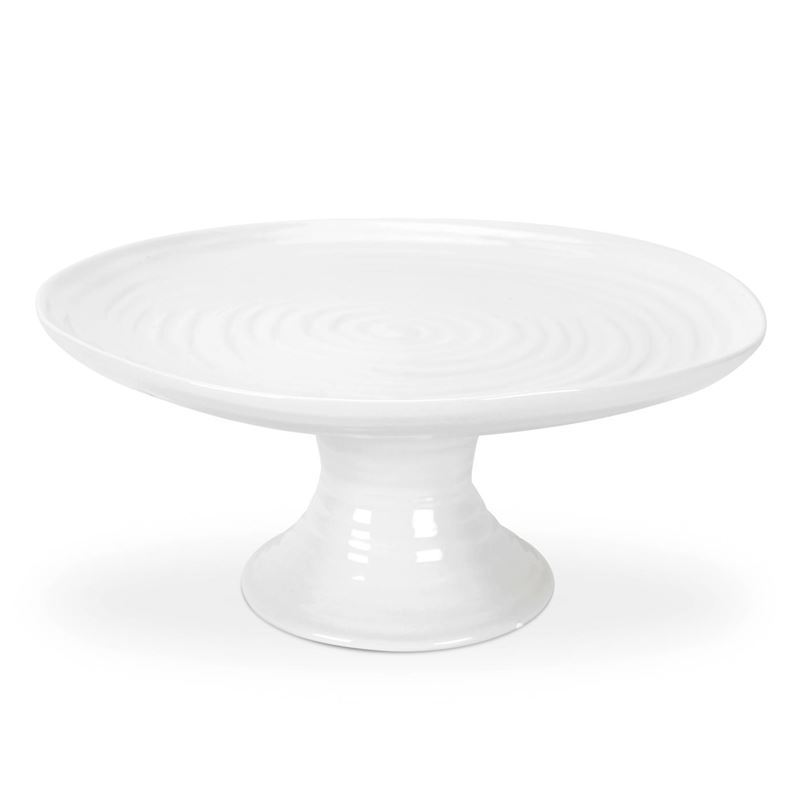 Sophie Conran for Portmeirion – Ice White Small Footed Cake Plate 10cm