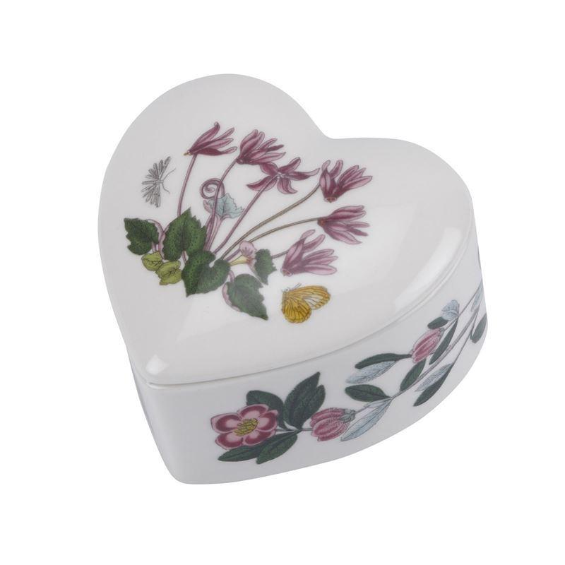 Portmeirion Botanic Garden – Heart Trinket Box 9.5cm