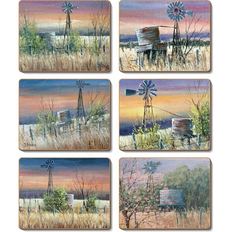 Cinnamon – Windmills & Water Tanks Coasters 11×9.5cm Set of 6