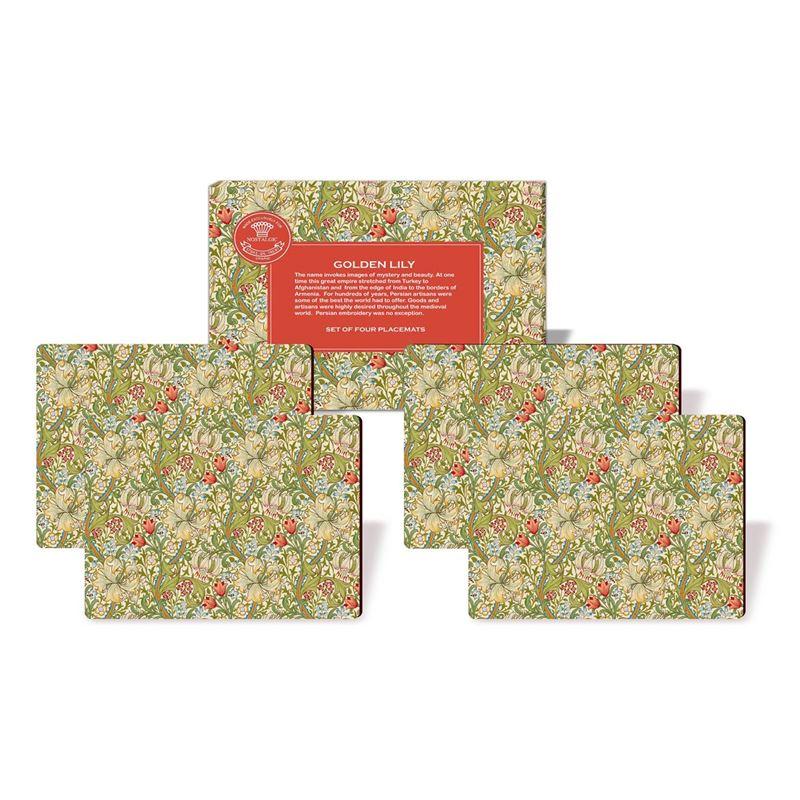 Nostalgic – Golden Lily Placemats 29×21.5cm Set of 4
