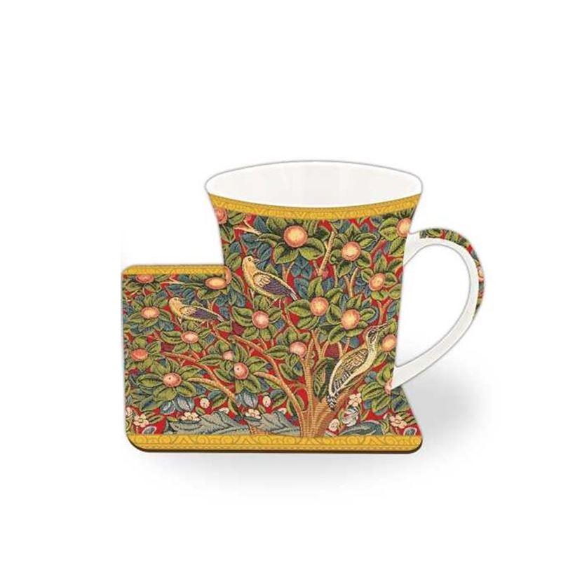 Nostalgic – China Mug and Coaster Set Woodpecker Tapestry