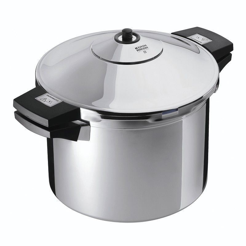 Kuhn Rikon – Duromatic Stainless Steel 22cm Double Handle Pressure Cooker 8Ltr