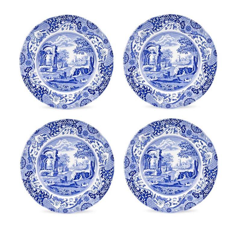 Spode – Blue Italian Dinner Plate 27cm SET OF 4 (Made in England)