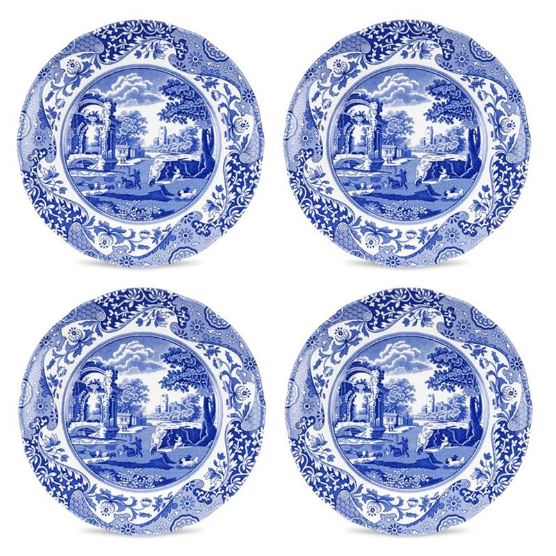 Spode – Blue Italian Entree Plate 20cm SET OF 4 (Made in England)