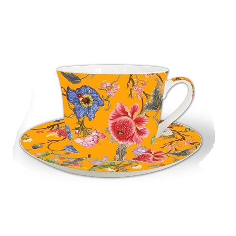 Heritage – Fine China Breakfast Cup and Saucer Anthina Honey Gold 530ml