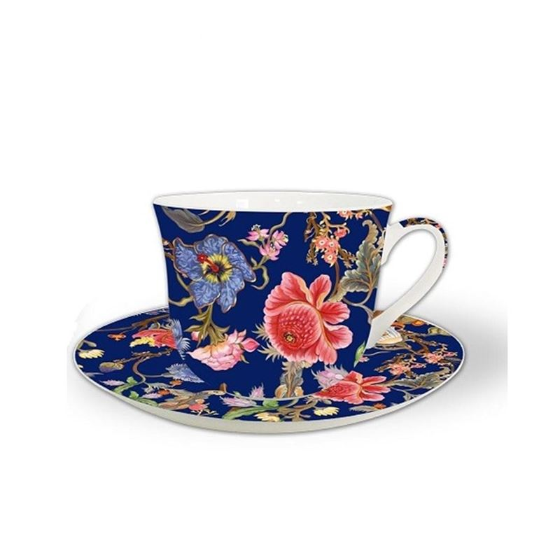 Heritage – Fine China Breakfast Cup and Saucer Anthina Blue 530ml