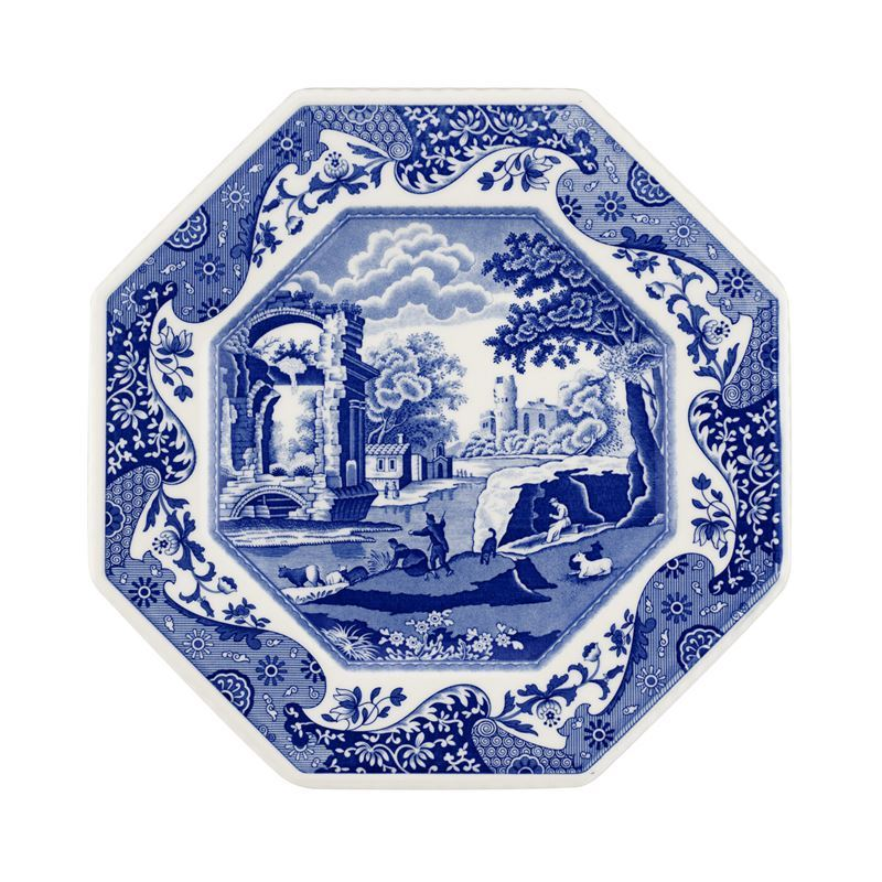 Spode – Blue Italian 250th Anniversary Collection Octagonal Plate 24cm