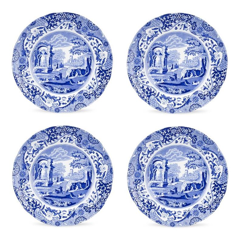 Spode – Blue Italian Entree Plate 23cmSET OF 4 (Made in England)