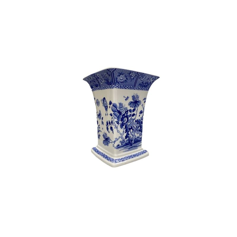 Spode – LIMITED EDITION The Spode Blue Room Collection India Square Vase 21cm