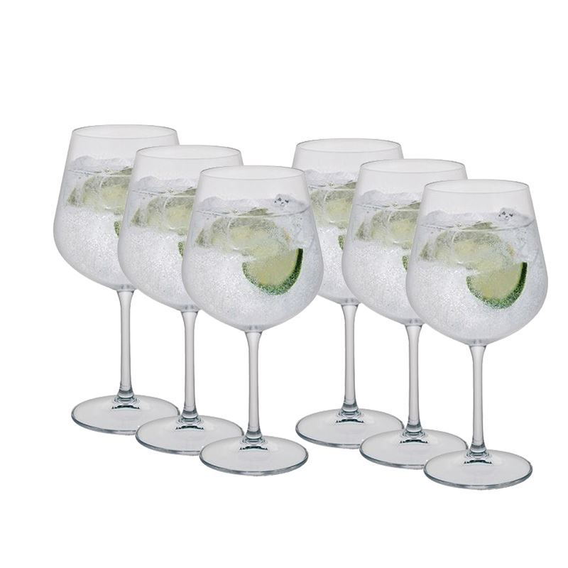 Dartington Crystal – Select Gin Copa 600ml Set of 6 Gift Pack (Made in Slovakia)