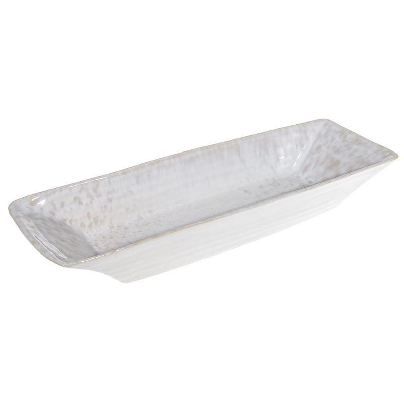 Tablekraft – Vilamoura Perola Reactive Rectangular Tray 37.5x12x5cm