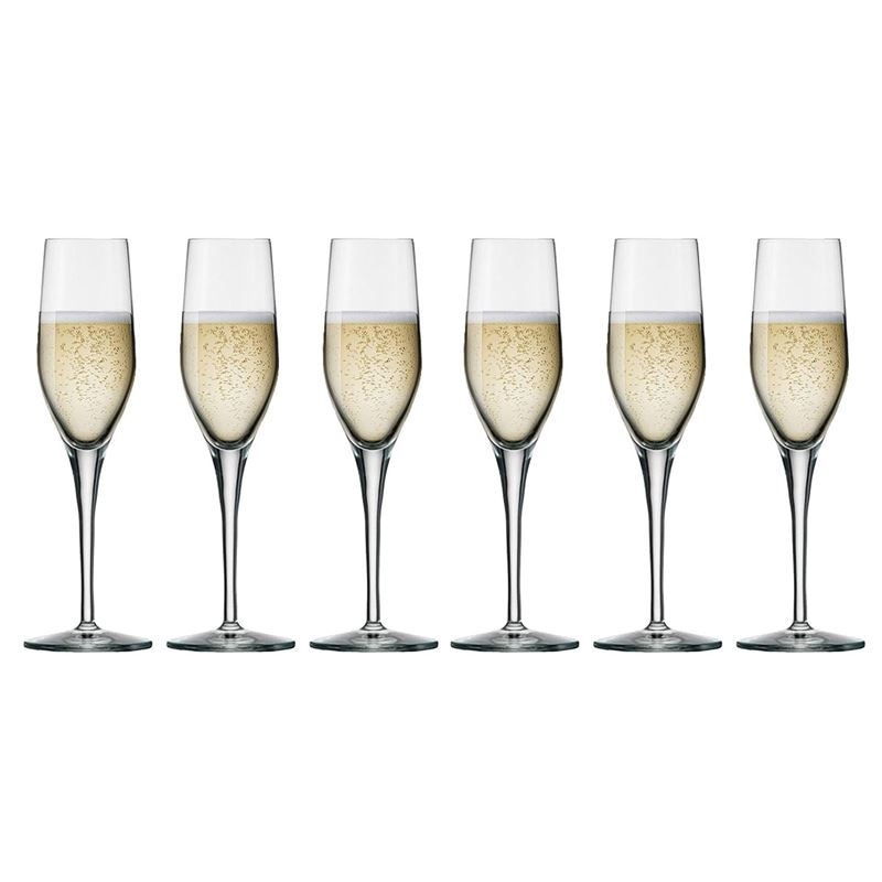 Stolzle – Exquisit Flute 265ml Premium German Lead Free Crystal Glass Set of 6 (Made in Germany)