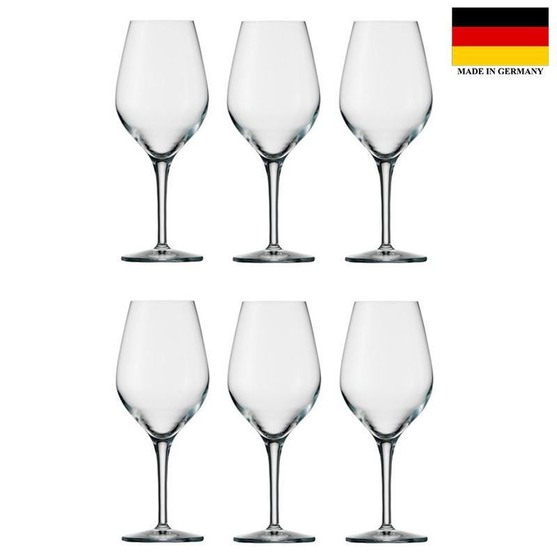 Stolzle – Exquisit Wine 350ml Premium German Lead Free Crystal Glass Set of 6 (Made in Germany)