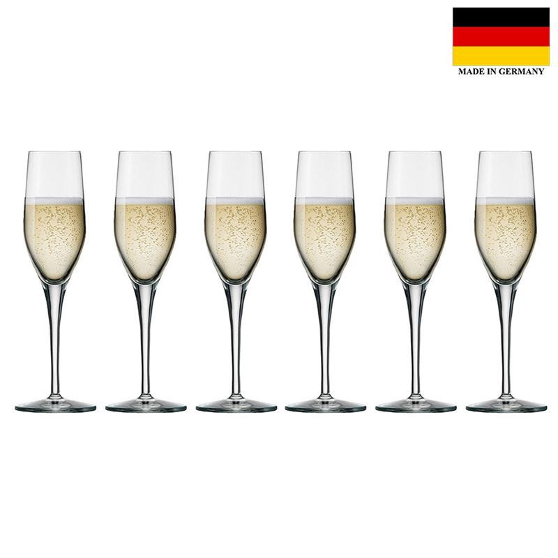 Stolzle – Exquisit Flute 175ml Premium German Lead Free Crystal Glass Set of 6 (Made in Germany)