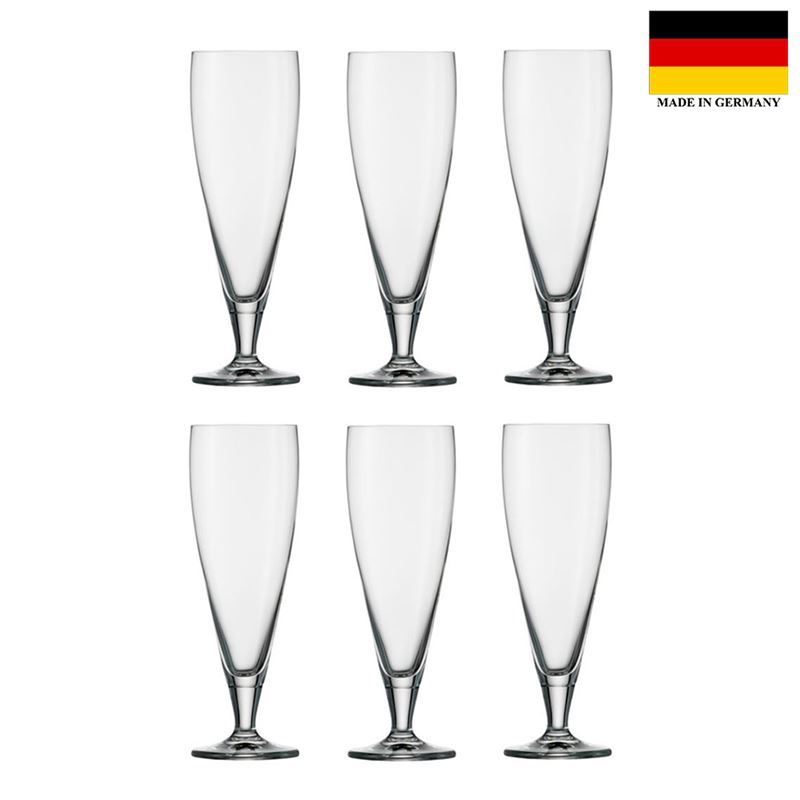 Stolzle – Classic Beer 430ml Premium German Lead Free Crystal Glass Set of 6 (Made in Germany)