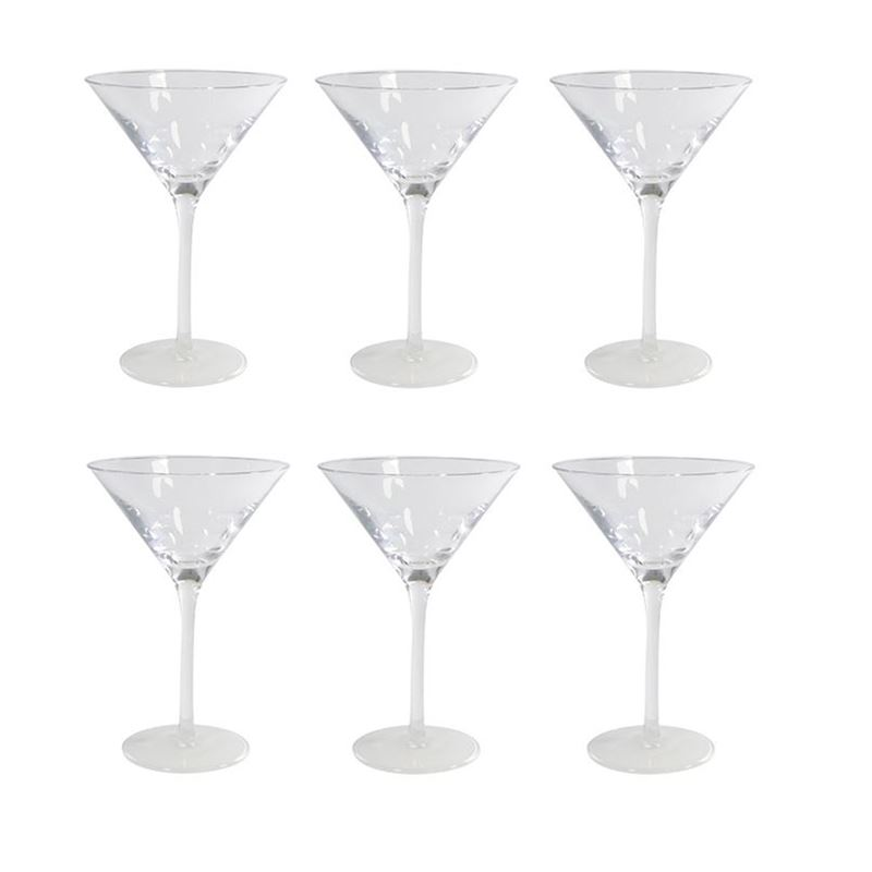 Stolzle – Flouroescent Base Cocktail Glass 240ml Premium German Lead Free Crystal Glass Set of 6 (Made in Germany)