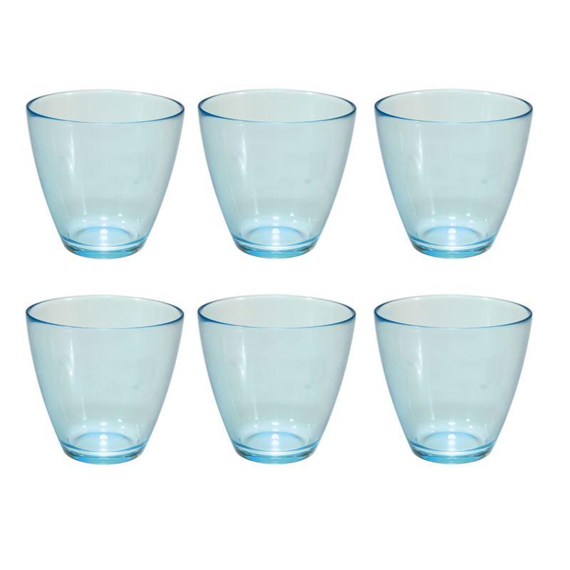 Bormioli Rocco – Zeno Water Blue 260ml set of 6 (Made in Italy)
