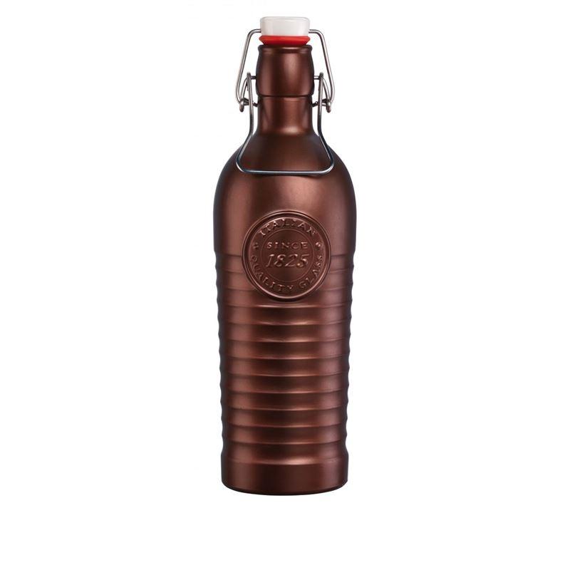 Bormioli Rocco – Officina Flip Top 1.2Ltr Bottle Metallic Bronze