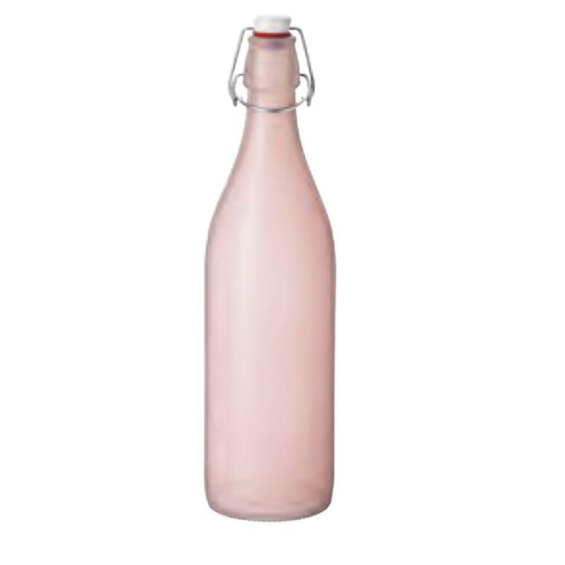 Bormioli Rocco – Giara Naturals 1Ltr Clip Top Bottle Ortensia Pink