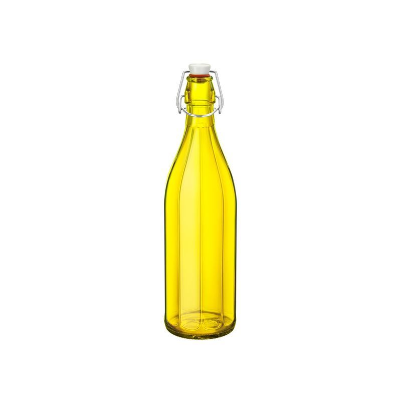 Bormioli Rocco – Oxford Flip Top 1Ltr Water Bottle Yellow