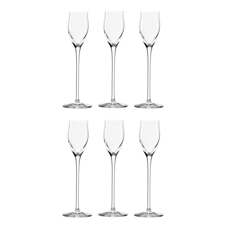Stolzle – Quatrophil Grappa/Port 65ml Premium German Lead Free Crystal Glass Set of 6 (Made in Germany)